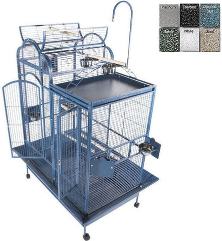 "A&E Cage PC-4226D White 42""x26"" Split Level House Cage - Peazz.com"