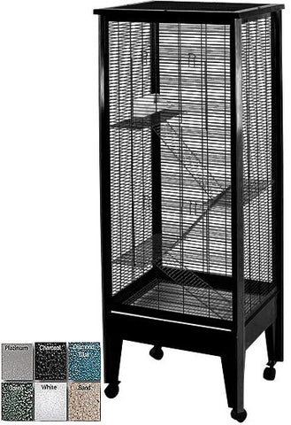 A&E Cage SA2420H PL/BK Medium - 4 Level Small Animal Cage on Casters - Peazz.com