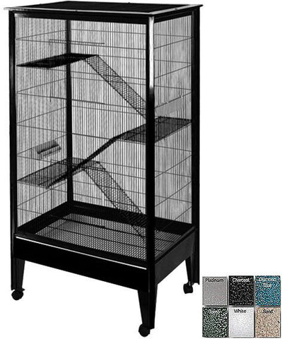 A&E Cage SA3221H BK/PL Large - 4 Level Small Animal Cage on Casters - Peazz.com
