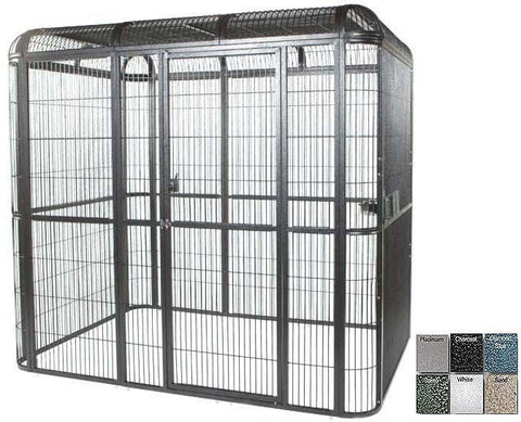 "A&E Cage WI11062 Black 110""x62"" Walk In Aviary - Peazz.com"