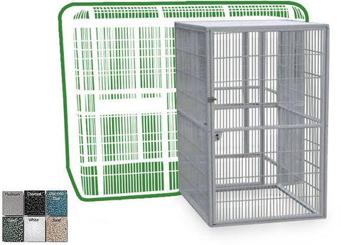 "A&E Cage WI8561SD Black Side Door for 85""x61"" Walk In Aviary - 40""x48"" - Peazz.com"
