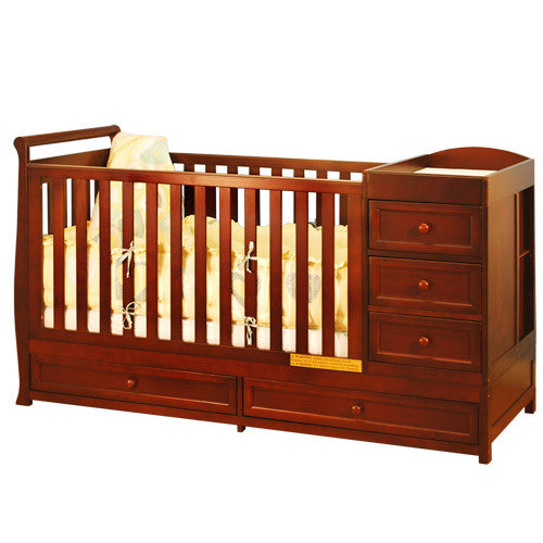 Afg Athena Daphne 2 In 1 Crib And Changer Combo In Cherry 662c