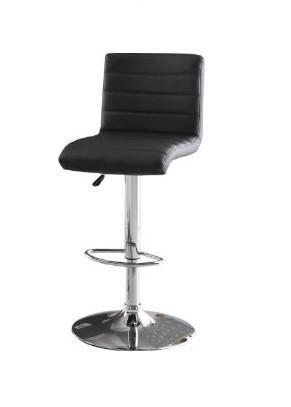 Furniture of America IDF-BR6905BK Black Leatherette Adjustable Bar Stool - BarstoolDirect.com