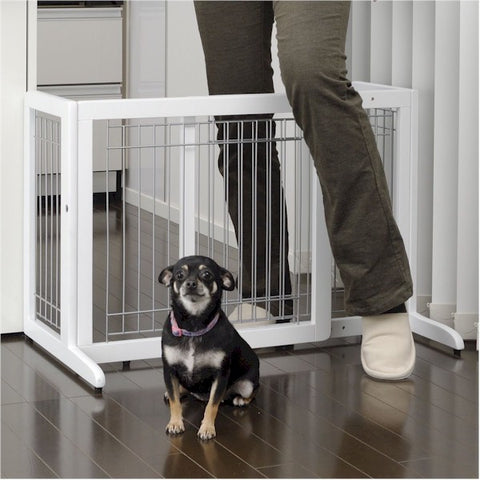 Cool Breeze Freestanding Pet Gate - Small Tall - Peazz.com