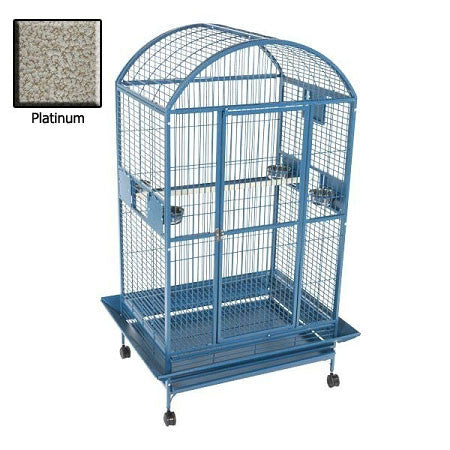 Amazon Dome Top Bird Cage - Platinum - Peazz.com