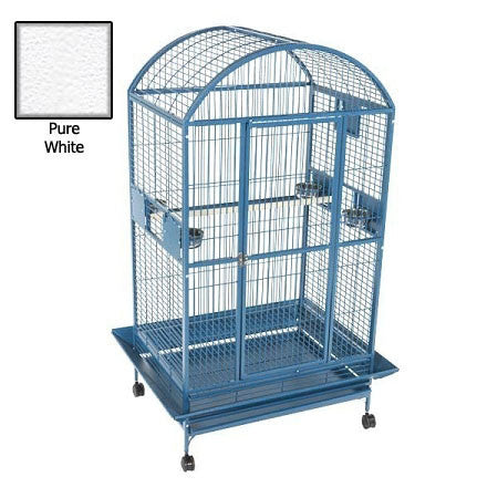 Amazon Dome Top Bird Cage - White - Peazz.com