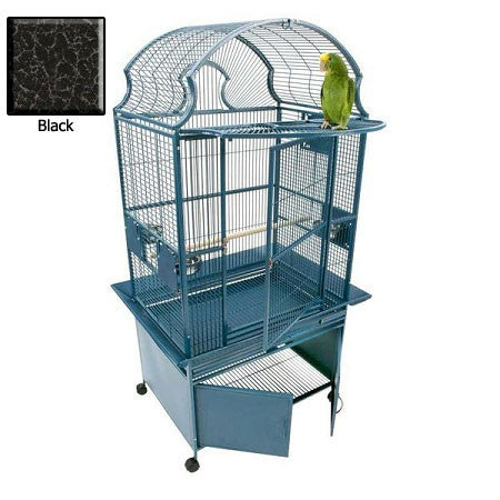 Small Fan Top Bird Cage - Black