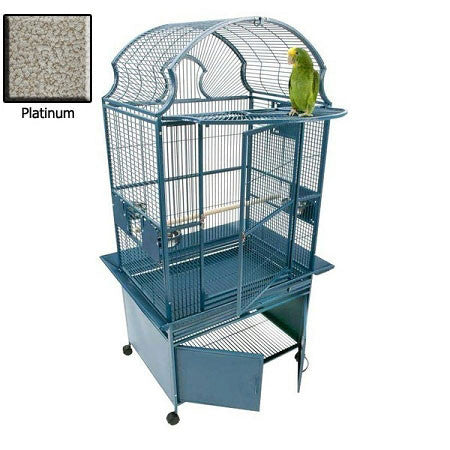 Small Fan Top Bird Cage - Platinum