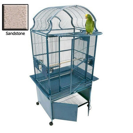 Small Fan Top Bird Cage - Sandstone