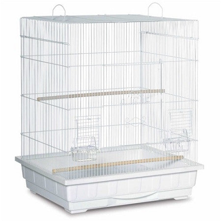 Square Roof Parakeet Cage - White - Peazz.com