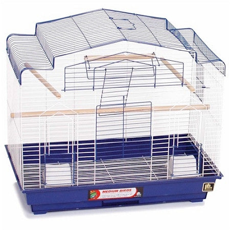 Barn Style Bird Cage - Purple - Peazz.com
