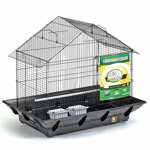 Clean Life Pitched Roof Bird Cage - Peazz.com