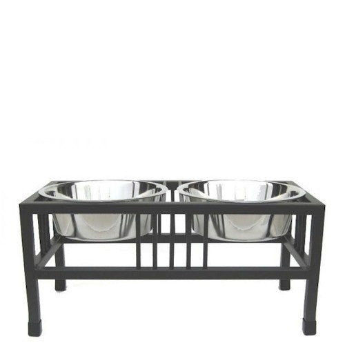 Baron Double Raised Dog Feeder - Small