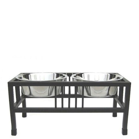 Baron Double Raised Dog Feeder - Large - Peazz.com