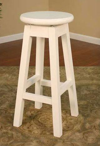 American Heritage Swivel Taylor Bar Stool 30H (130750WH) - BarstoolDirect.com - 1