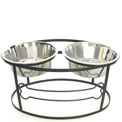 Bone Raised Double Dog Bowl - Large - Peazz.com