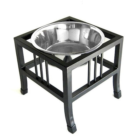 Baron Heavy Duty Raised Dog Bowl - Large - Peazz.com