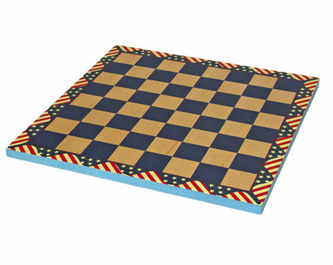 "Fame 304B 16"" American Flag Chess Board - Peazz.com"