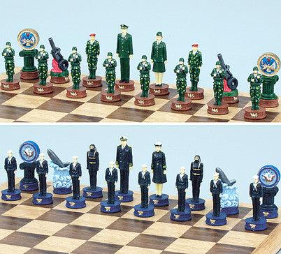 Fame 5385 Army vs Navy Chess Set
