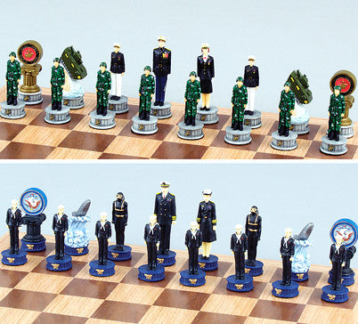 Fame 5386 Marine vs Navy Chess Set