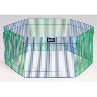 Small Pet Playpen 6 Panels 15H x 19W Appropriate for Hamsters, Gerbils, Guinnea Pigs and other non-jumping small animals - Peazz.com