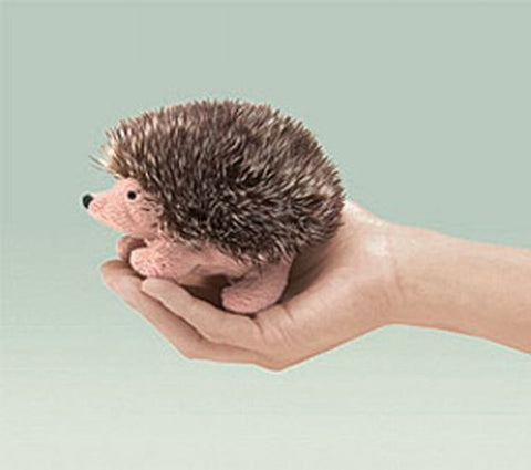 Folkmanis Mini Hedgehog Finger Puppet - 2668 - Peazz.com