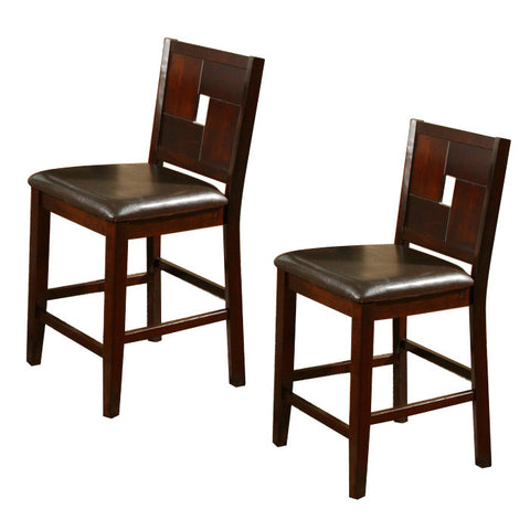 Alpine 2x552-02 Counter Height Pub Chair Set Of 2 - Peazz.com