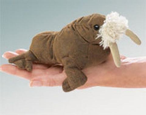 Folkmanis Mini Walrus Finger Puppet - 2718 - Peazz.com