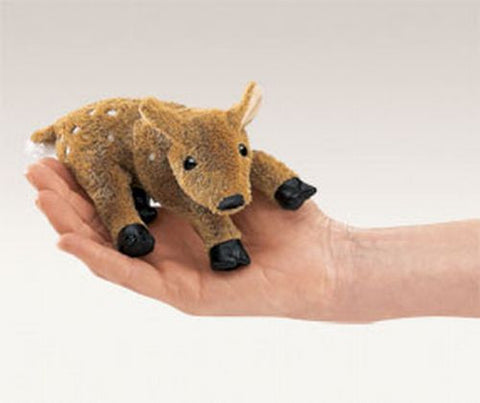 Folkmanis Mini Fawn Finger Puppet - 2733 - Peazz.com