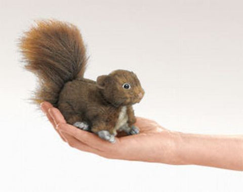 Folkmanis Mini Squirrel Red Finger Puppet - 2735 - Peazz.com