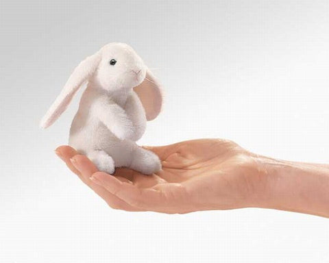 Folkmanis Mini Rabbit, Lop Eared Finger Puppet - 2745 - Peazz.com
