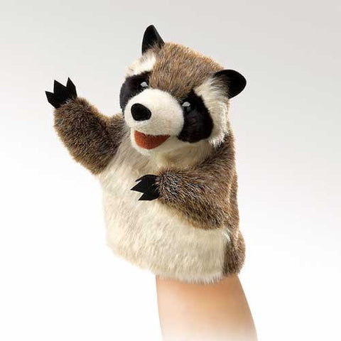 Folkmanis Little Raccoon Little Puppet - 2932 - Peazz.com