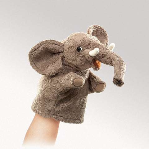 Folkmanis Little Elephant Little Puppet - 2940 - Peazz.com