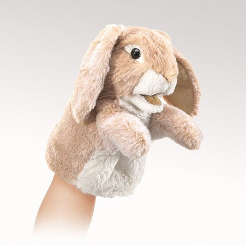 Folkmanis Little Rabbit, Lop Little Puppet - 2944 - Peazz.com