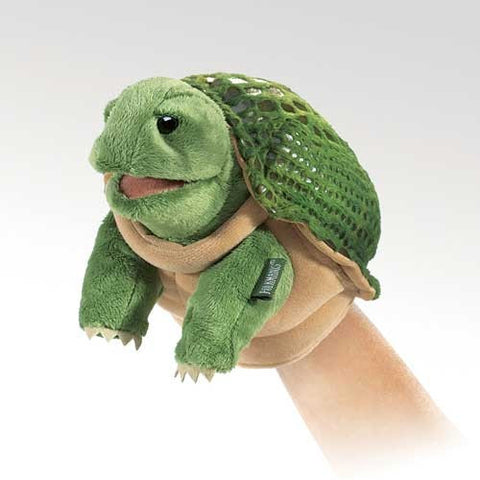 Folkmanis Little Turtle Little Puppet - 2968 - Peazz.com