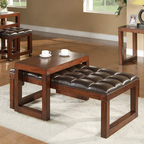 Alpine 497-00 Ottoman W/ Sliding Table - Peazz.com