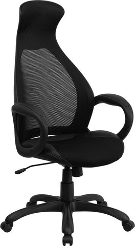 Flash Furniture CH-CX0528H01-BK-GG High Back Executive Black Mesh Chair - Peazz.com