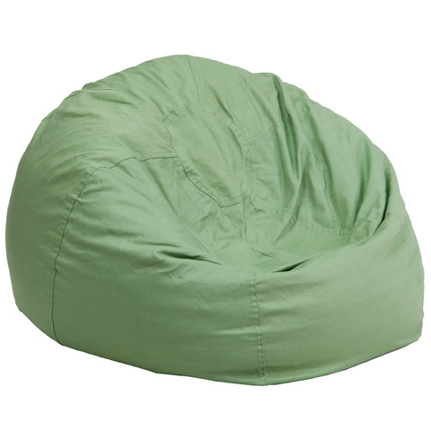 Flash Furniture DG-BEAN-LARGE-SOLID-GRN-GG Oversized Solid Green Bean Bag Chair - Peazz.com
