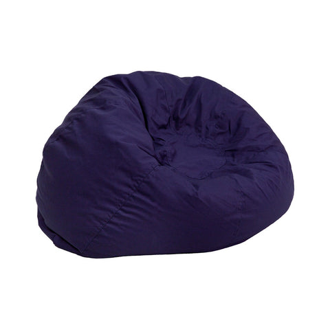 Flash Furniture DG-BEAN-SMALL-SOLID-BL-GG Small Solid Navy Blue Kids Bean Bag Chair - Peazz.com