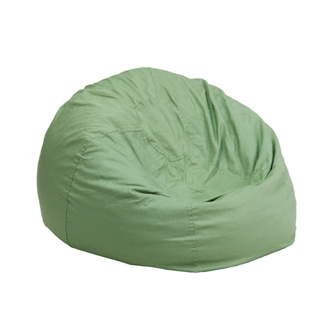 Flash Furniture DG-BEAN-SMALL-SOLID-GRN-GG Small Solid Green Kids Bean Bag Chair - Peazz.com