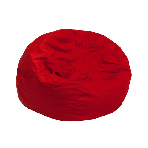 Flash Furniture DG-BEAN-SMALL-SOLID-RED-GG Small Solid Red Kids Bean Bag Chair - Peazz.com