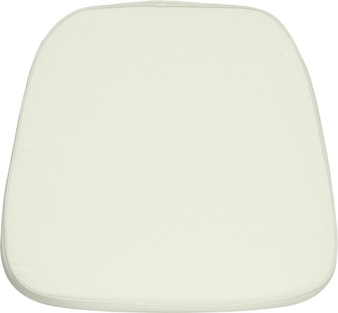 Ivory Chiavari Chair Cushion for Wood / Resin Chiavari Chairs LE-L-C-WHITE-GG by Flash Furniture - Peazz.com
