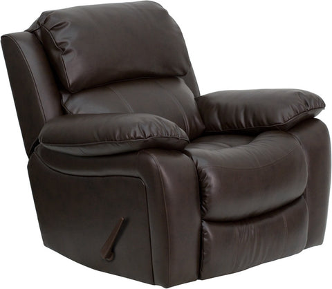 Brown Leather Rocker Recliner MEN-DA3439-91-BRN-GG by Flash Furniture - Peazz.com