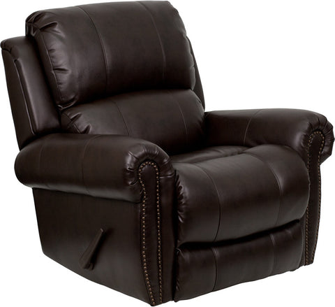 Plush Brown Leather Rocker Recliner MEN-DSC01072-BRN-GG by Flash Furniture - Peazz.com