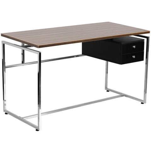 Flash Furniture NAN-JN-2120-GG Computer Desk with Two Drawer Pedestal - Peazz.com