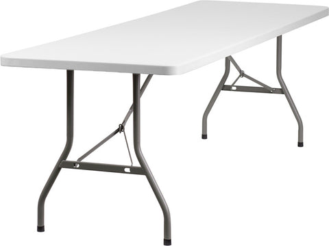 30''W x 96''L Plastic Folding Table RB-3096-GG by Flash Furniture - Peazz.com