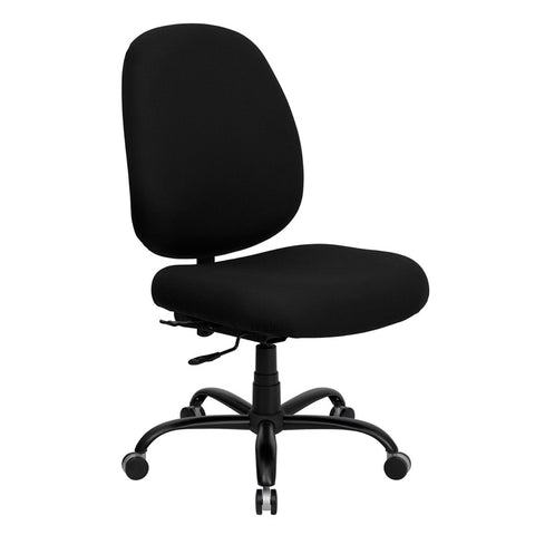 HERCULES Series 400 lb. Capacity Big and Tall Black Fabric Office Chair with Extra WIDE Seat WL-715MG-BK-GG by Flash Furniture - Peazz.com