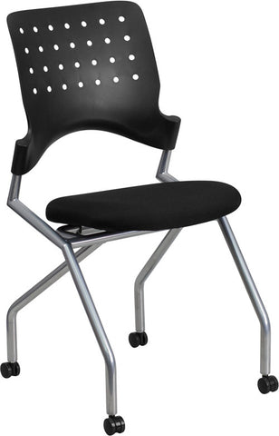 Flash Furniture WL-A224V-GG Galaxy Mobile Nesting Chair with Black Fabric Seat - Peazz.com