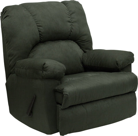 Contemporary Montana Loden Microfiber Suede Rocker Recliner WM-8500-266-GG by Flash Furniture - Peazz.com