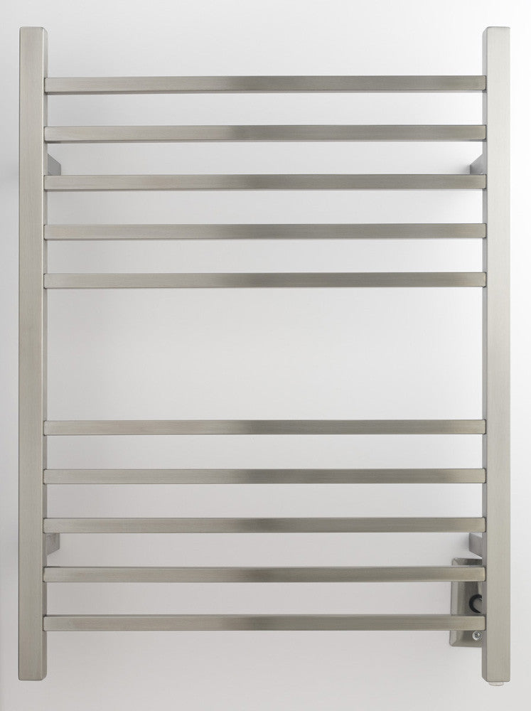 Amba Products Towel Warmer Rswh-b Radiant Square Hardwired - Brushed